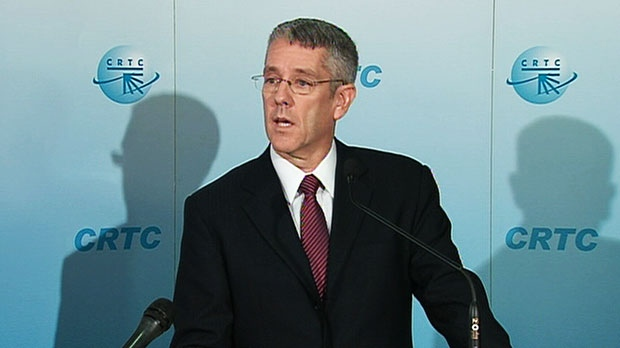 CRTC Chairman Jean-Pierre Blais speaks at a press conference about the rejection of the Bell-Astral deal on Thursday, Oct. 18, 2012.