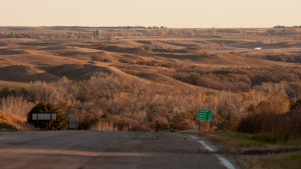 Tthe Sandhills near Mills, Neb., an environmentally sensitive area which TransCanada had planned to build a pipeline through to transport crude oil from Canada to the Gulf Coast, Oct. 13, 2010. (AP / Nati Harnik)