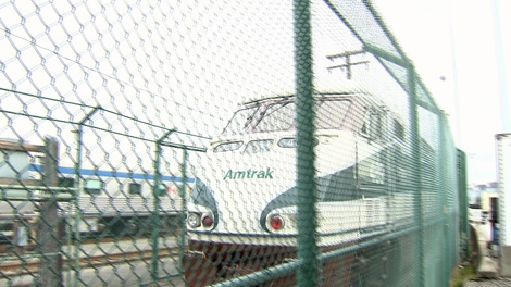 The Amtrak Cascades train arrives in Vancouver from Portland, Oregon. Oct. 14, 2010. (CTV)