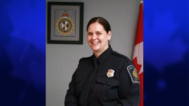 Border services officer Lori Bowcock is shown in an undated handout photo. (THE CANADIAN PRESS/HO-Canada Border Services Agency)
