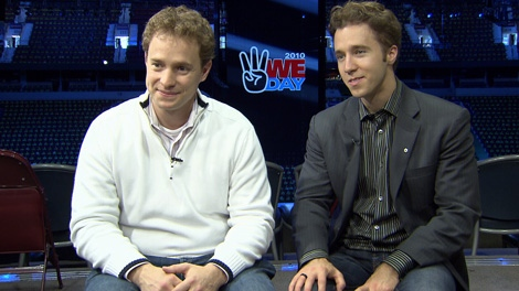 Marc and Craig Kielburger talk to Sarah Galashan about We Day. Oct. 14, 2010. (CTV)