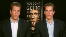 Tyler Winklevoss and Cameron Winklevoss appear on CTV's Canada AM on Thursday, Oct. 14, 2010.