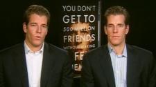 Tyler Winklevoss and Cameron Winklevoss appear on CTV's Canada AM on Thursday, Oct. 14, 2010.