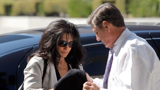 Britney Spears parents, Lynne Spears, left, and Jamie Spears arrive at court in Los Angeles on Friday Oct. 19, 2012. (AP / Nick Ut)