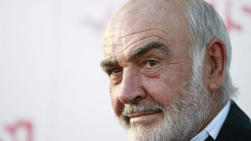 In this June 7, 2007 file photo, Sean Connery arrives at the American Film Institute Life Achievement Award event honoring Al Pacino in Los Angeles. (AP Photo/Matt Sayles,File)