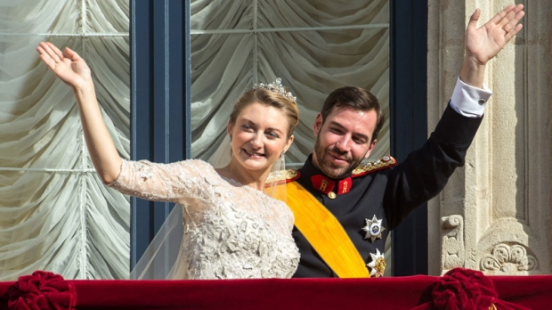 Luxembourg's Prince Guillaume Countess Stephanie