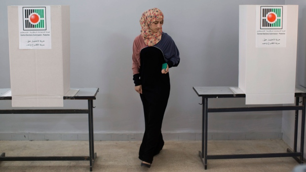 Palestinians cast vote Oct. 20, 2012