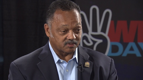 CTV's Pamela Martin spoke with Rev. Jesse Jackson, one of the guest speakers at WE Day 2010 in Vancouver, B.C. on Friday, Oct.15, 2010 (CTV)