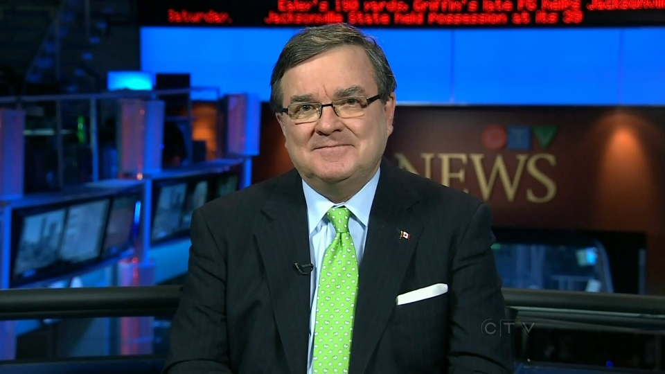 Finance Minister Jim Flaherty discussed the rejected Petronas bid during an interview that aired on CTV's Question Period on Oct. 21, 2012.