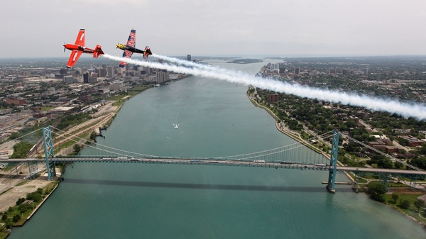 Pete McLeod in his Red Bull air racer during a training day in Windsor in this undated photo (Photo credit: Red Bull)