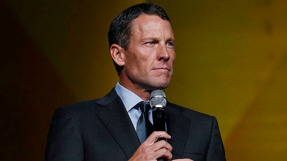 Lance Armstrong speaks at the 15th anniversary celebration of Livestrong, his cancer-fighting charity in Austin, Texas, Friday, Oct. 19, 2012. (Livestrong / Elizabeth Kreutz)