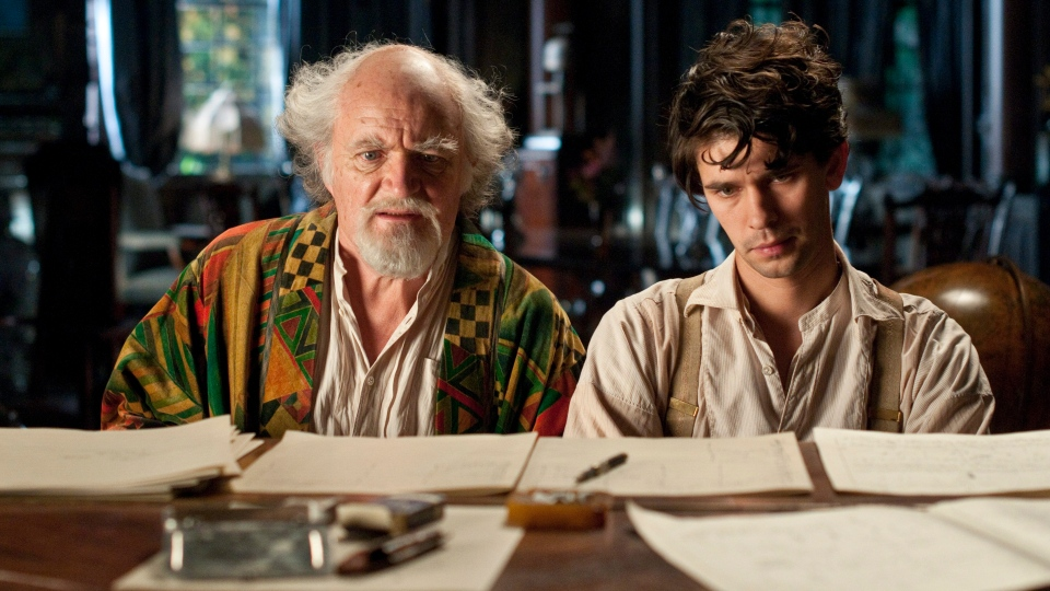 "This film image released by Warner Bros. Pictures shows Jim Broadbent, left, and Ben Whislaw in a scene from ""Cloud Atlas."" (AP / Warner Bros. Pictures, Reiner Bajo)"