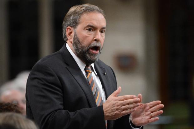 NDP Leader Tom Mulcair