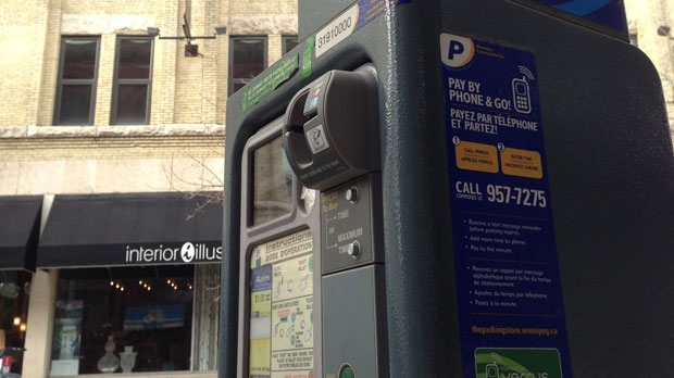 A City of Winnipeg parking meter is pictured in an undated image