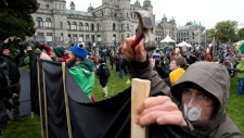 Protesters B.C. Northern Gateway Pipeline Oct. 22