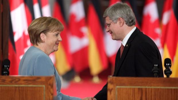 Angela Merkel Stephen Harper