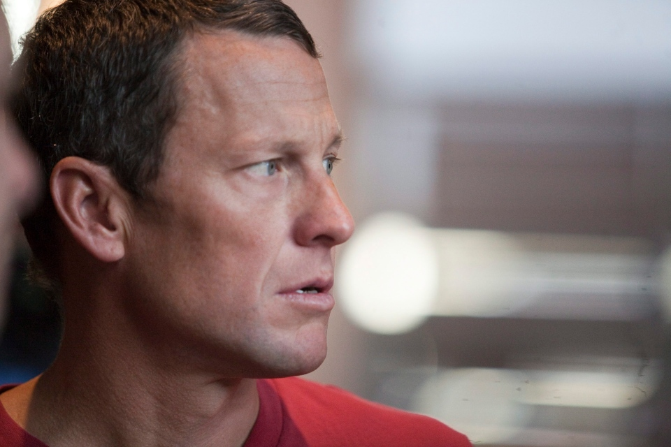 U.S. Cyclist Lance Armstrong looks on during an interview in Austin, Texas, Tuesday, Feb. 15, 2011. (AP / Thao Nguyen)