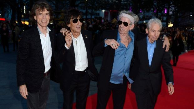 The Rolling Stones in London on Oct. 18, 2012.