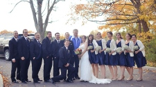 Harper surprises couple taking wedding photos