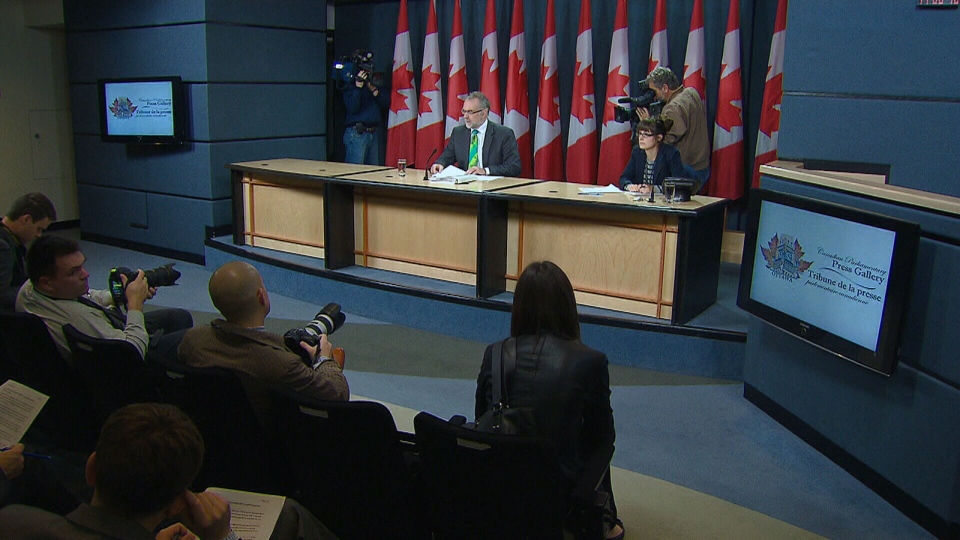 Auditor general of Canada Michael Ferguson speaks following the release of the 2012 Fall Report in Ottawa, Tuesday Oct. 23, 2012.