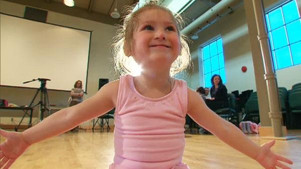 Four-year-old breast cancer survivor, Aleisha Hunter