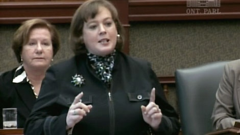 Progressive Conservative MPP Lisa MacLeod speaks in the Ontario legislature in Toronto, Tuesday, Oct. 19, 2010.