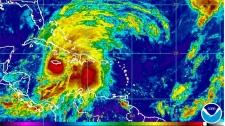 Hurricane Sandy heads for Jamaica