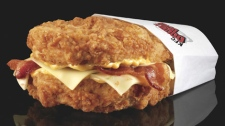 Canada gets a kick out of KFC's famous Double Down sandwich.