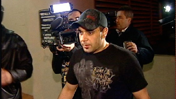 This Jan. 31, 2008 video frame grab release by AP Television shows Sam Lutfi leaving UCLA medical center after visiting Britney Spears in Los Angeles. (AP Photo/APTN)