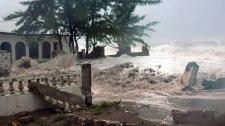 Hurricane Sandy hits Jamaica Cuba