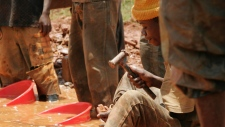 Mining for gold in Congo