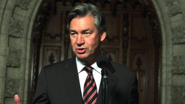 Canadian ambassador-designate to the United States Gary Doer talks to reporters during a media availability on Parliament Hill in Ottawa, Thursday Oct. 22, 2009. (Fred Chartrand / THE CANADIAN PRESS)
