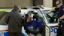 Father who discovered his baby in a Calgary dumpster. October 20, 2010.
