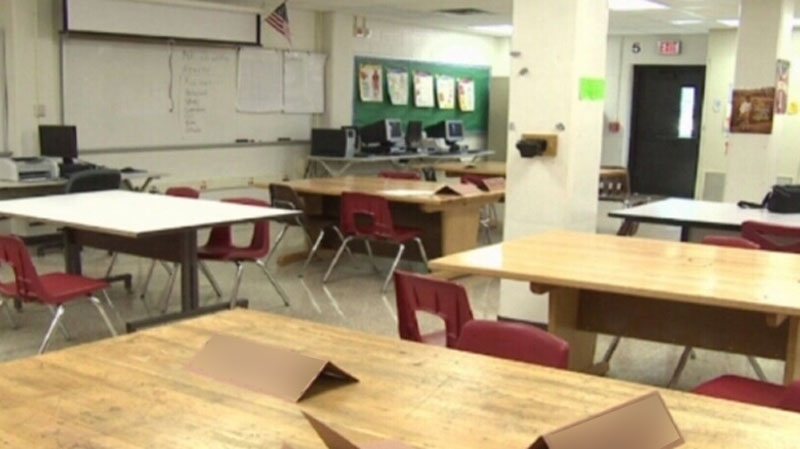 An empty classroom is seen in this undated CTV file photo.
