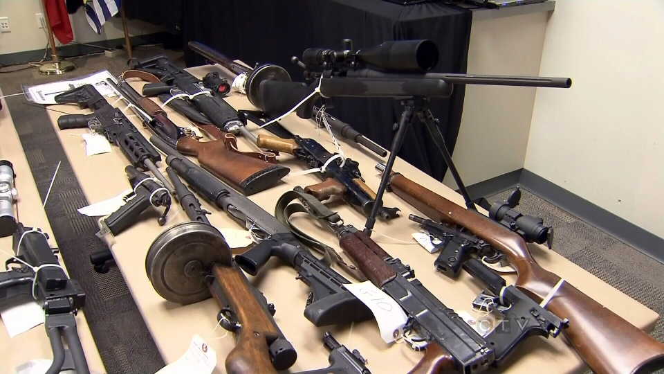 Guns and ammunition were seized from a gun smuggling ring bust in B.C.
