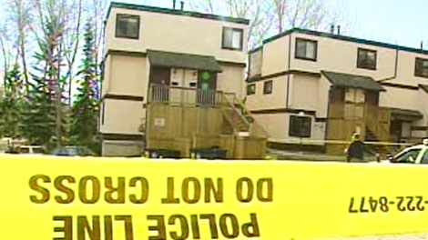 A baby was found in a dumpster at a northwest townhouse complex in Calgary on Tuesday, Oct. 19, 2010.