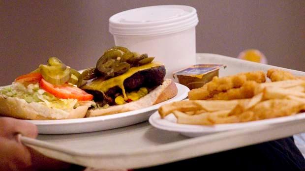 Fast food hamburger fries file photo