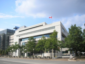 The Canadian embassy in Washington, located at 501 Pennsylvania Ave., is shown in this file photo.