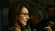 Natural Resources Minister Nathalie Normandeau says the government can do little about sudden hikes in gasoline prices (Oct. 20, 2010)