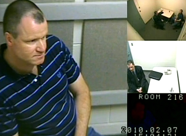Russell Williams is seen in this image taken from video of the OPP interview, released by the court in Belleville, Ont., Wednesday, Oct. 20, 2010.