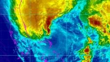 Frankenstorm east coast Hurricane Sandy winds path