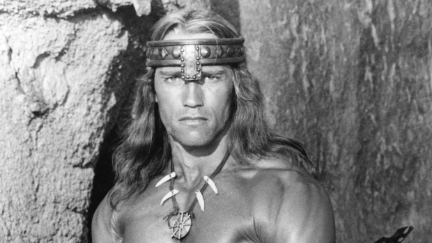 Arnold Schwarzenegger as Conan in 1984.