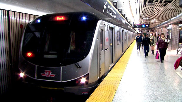 The TTC subway is seen in this file photo.