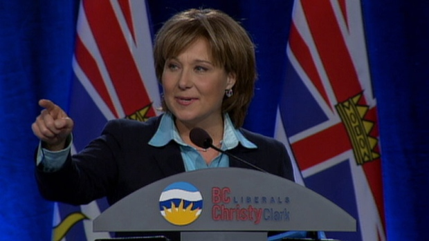 Christy Clark addresses members at convention