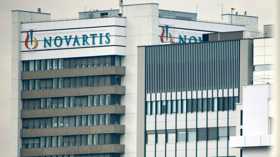 The logo of Swiss pharmaceutical company Novartis AG is shown on one of their buildings in Basel, Switzerland, Oct. 25, 2011. (AP / Keystone, Georgios Kefalas)