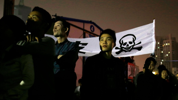 Activists protest Ningbo government