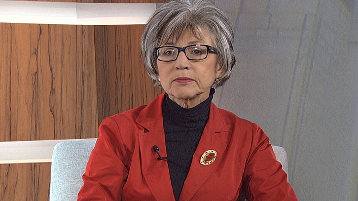 Supreme Court Chief Justice Beverley McLachlin on CTV's Question Period, October 28, 2012.