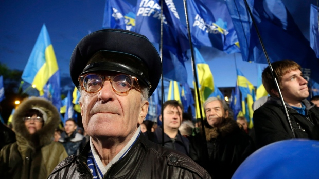 Supporters of Viktor Yanukovych's Party of Regions
