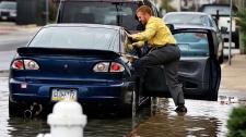 Evacuations begin for storm in U.S.