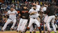 The San Francisco Giants beat Detroit Tigers